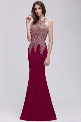 Elegant Sleeveless Mermaid Evening Dress | 2020 Prom Gown With Lace Appliques_1