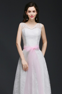 Elegant Sleveless A-line Simple Wedding Dress Party Dress With Bowknot_4