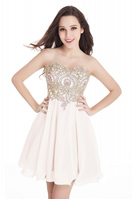 Cheap Short 2020 Mini Sweetheart Appliques Homecoming Dresses_4