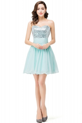 Elegant Sequins Lace-up Homecoming Dress Short Chiffon_1