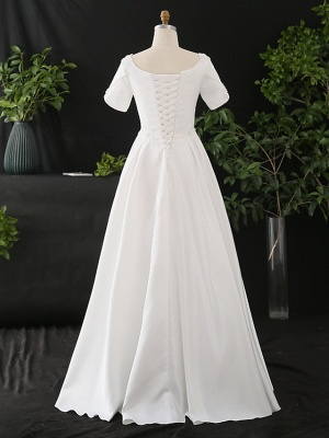 Stylish Short Sleeve Wedding Party Dress Daily Casual Dress for Women_2