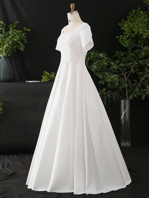 Stylish Short Sleeve Wedding Party Dress Daily Casual Dress for Women_3