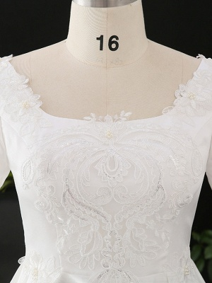 Stylish Short Sleeve Wedding Party Dress Daily Casual Dress for Women_4