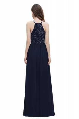 Spaghetti Straps Elegant A-Line Evening Dress Sequins Maxi Prom Dress Cross Straps_3