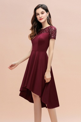 Elegant Chiffon A-line Mini Evening Dress Daily Wear short Sleeve_6