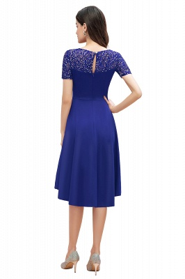 Elegant Chiffon A-line Mini Evening Dress Daily Wear short Sleeve_10