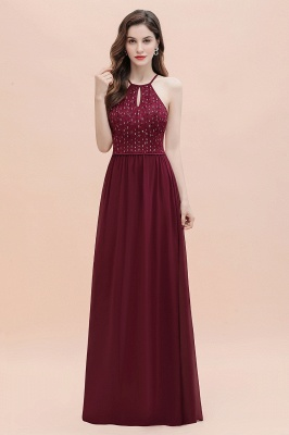 Spaghetti Straps Elegant A-Line Evening Dress Sequins Maxi Prom Dress Cross Straps_5