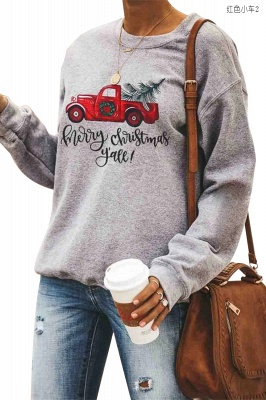 Leopard Printed Plaid Trees Christmas Sweatshirt Long Sleeve Lightweight Pullover Tops Blouse Women_24