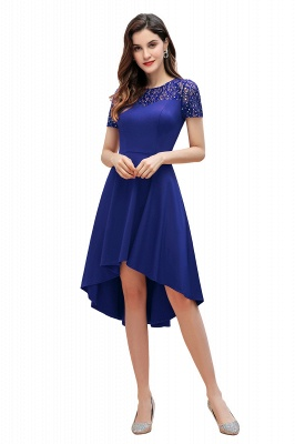 Elegant Chiffon A-line Mini Evening Dress Daily Wear short Sleeve_2
