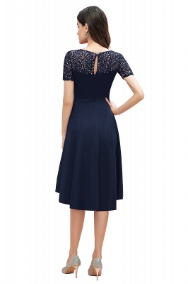 Elegant Chiffon A-line Mini Evening Dress Daily Wear short Sleeve_12