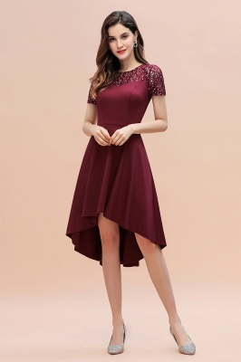 Elegant Chiffon A-line Mini Evening Dress Daily Wear short Sleeve_7