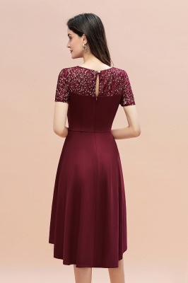 Elegant Chiffon A-line Mini Evening Dress Daily Wear short Sleeve_8