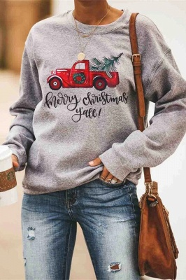 Leopard Printed Plaid Trees Christmas Sweatshirt Long Sleeve Lightweight Pullover Tops Blouse Women_29