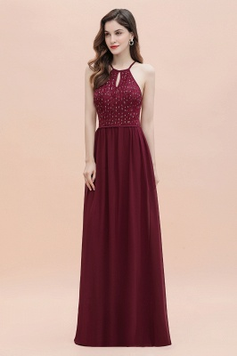 Spaghetti Straps Elegant A-Line Evening Dress Sequins Maxi Prom Dress Cross Straps_7