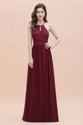Spaghetti Straps Elegant A-Line Evening Dress Sequins Maxi Prom Dress Cross Straps_4