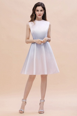 Gradient Mini Daily Wear Dress Crew Neck Sleeveless A-line Evening Party Dress_6