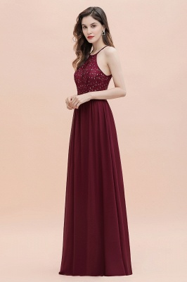 Spaghetti Straps Elegant A-Line Evening Dress Sequins Maxi Prom Dress Cross Straps_14