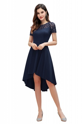 Elegant Chiffon A-line Mini Evening Dress Daily Wear short Sleeve_3