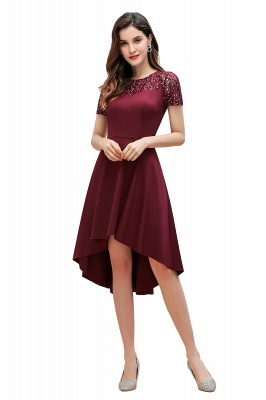 Elegant Chiffon A-line Mini Evening Dress Daily Wear short Sleeve_1
