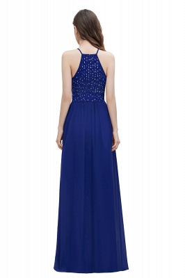 Spaghetti Straps Elegant A-Line Evening Dress Sequins Maxi Prom Dress Cross Straps_11