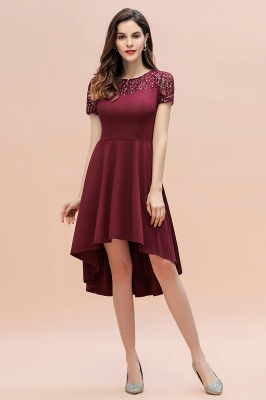 Elegant Chiffon A-line Mini Evening Dress Daily Wear short Sleeve_5