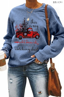 Leopard Printed Plaid Trees Christmas Sweatshirt Long Sleeve Lightweight Pullover Tops Blouse Women_8