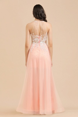 Stylish Sleeveless Evening Maxi Dress A-line Lace Appliques Prom Dress_8