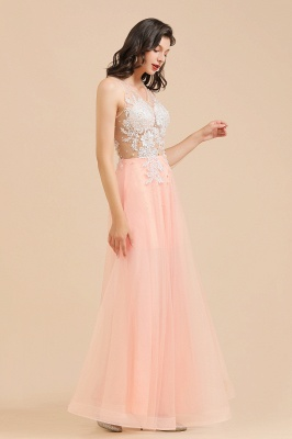 Stylish Sleeveless Evening Maxi Dress A-line Lace Appliques Prom Dress_9