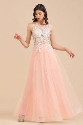 Stylish Sleeveless Evening Maxi Dress A-line Lace Appliques Prom Dress