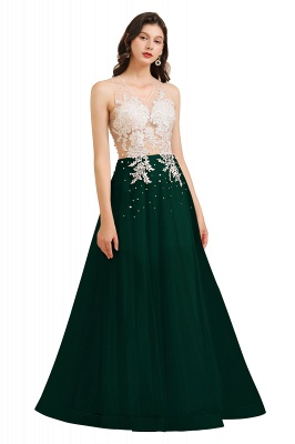 Stylish Sleeveless Evening Maxi Dress A-line Lace Appliques Prom Dress_4