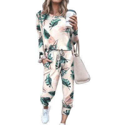 Homewear Tops and Pants Two Sets Sleepwear Long Sleeve Loungewear for Women_10