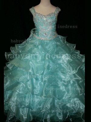 Formal Cheap Pageant Dresses for Girls with Beauty Customized 2020 Beaded Flower Girls Gowns for Sale_6