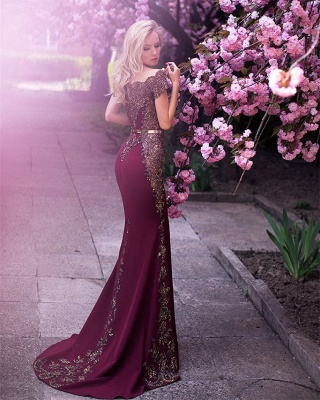 Glamorous Off-the-Shoulder 2020 Evening Dress Lace Mermaid Party Gowns On Sale_3