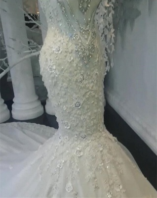 Stunning Sleeveless Crystal Wedding Dress | 2020 Mermaid Bridal Gowns On Sale BC0391_3