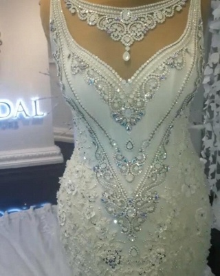 Stunning Sleeveless Crystal Wedding Dress | 2020 Mermaid Bridal Gowns On Sale BC0391_5