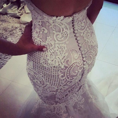 Glamorous Off-the-Shoulder Mermaid Wedding Dress | 2020 Tulle Bridal Gowns_4
