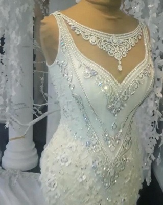 Stunning Sleeveless Crystal Wedding Dress | 2020 Mermaid Bridal Gowns On Sale BC0391_2