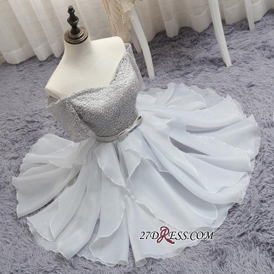 Short A-Line Lace Off-the-Shoulder Bowknot Elegant Homecoming Dress_5