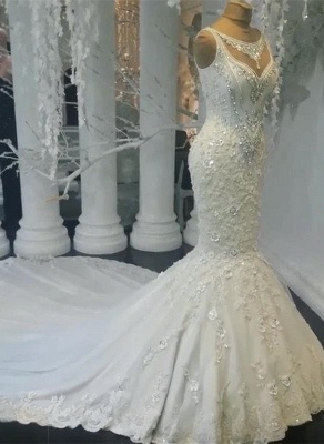Stunning Sleeveless Crystal Wedding Dress | 2020 Mermaid Bridal Gowns On Sale BC0391_6