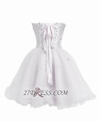 Luxurious Sweetheart Sleeveless Cocktail Dress Lace-up Crystals Short White Homecoming Gown BA8930_3