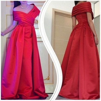 Elegant Off The Shoulder Long Prom Dress 2020 Floor Length Party Gowns_2
