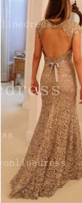 Sheath Backless Vestidos Formal Prom Dress One Shoulder Waistband Lace Prom Gowns With Sequined Beading_2