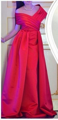 Elegant Off The Shoulder Long Prom Dress 2020 Floor Length Party Gowns_1