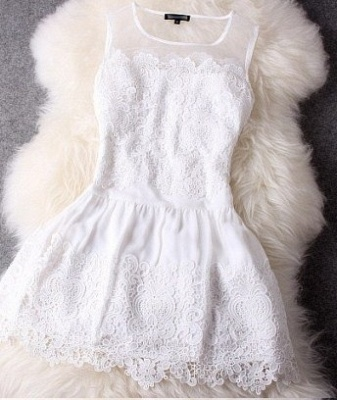 Newest Illusion Sleeveless Short Homecoming Dress With Lace_3