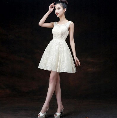 Modern Illusion Sleeveless Short Homecoming Dress Lace-up With Appliques_1