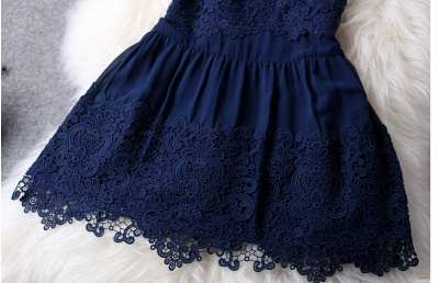 Newest Illusion Sleeveless Short Homecoming Dress With Lace_4