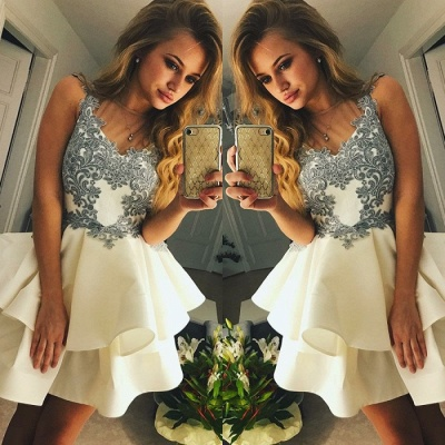 Lovely Sleeveless Short Prom Dress | 2020 Homecoming Dress With Appliques BC1637_3