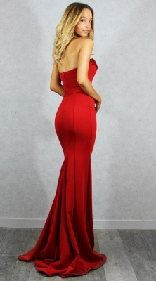 Gorgeous Sweetheart Red Evening Gowns | 2020 Mermaid Zipper Prom Gowns On Sale_3