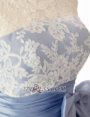 Lovely Illusion Cap Strap Cocktail Dress Lace Appliques Bowknot Short Homecoming Gown_4