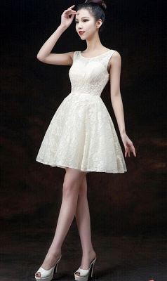 Modern Illusion Sleeveless Short Homecoming Dress Lace-up With Appliques_7